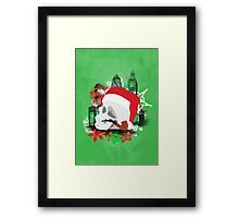 Skull Christmas - Green Mark II Framed Print