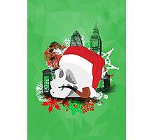 Skull Christmas - Green Mark II Photographic Print