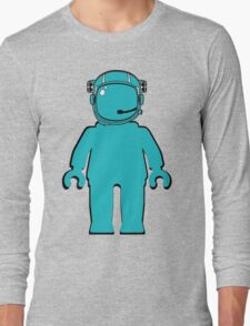 Banksy Style Astronaut Minifigure Long Sleeve T-Shirt