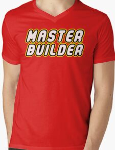 MASTER BUILDER Mens V-Neck T-Shirt
