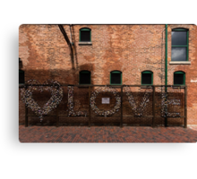 LOVE in the Shadows Canvas Print