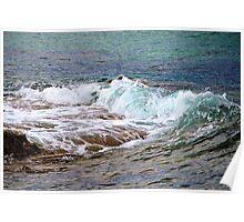 Water against Rocks II - Mediterranean Sea, France. Poster