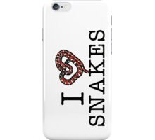 I love snakes! iPhone Case/Skin
