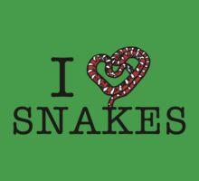 I love snakes! One Piece - Short Sleeve