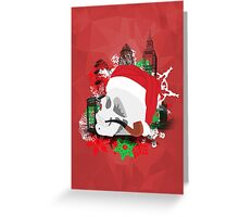 Skull Christmas - Red Mark II Greeting Card