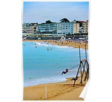 Eyes on the beach II - Basque country, France. Poster