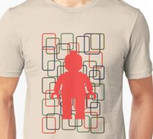 MINIFIG IN FRONT OF RECTANGLES Unisex T-Shirt
