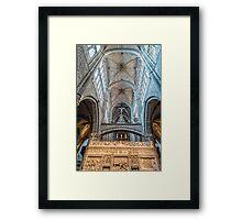 Vaults of Avila Cathedral Framed Print