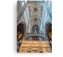 Vaults of Avila Cathedral Canvas Print