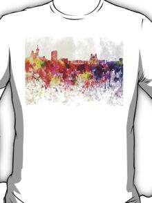 Marseilles skyline in watercolor background T-Shirt