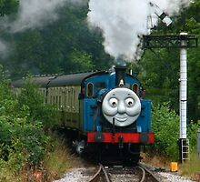 Thomas, Huffing and Puffing up the track by Yampimon