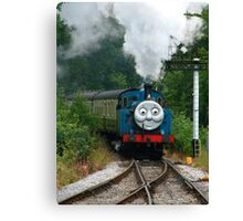 Thomas, Huffing and Puffing up the track Canvas Print