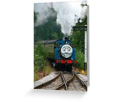 Thomas, Huffing and Puffing up the track Greeting Card