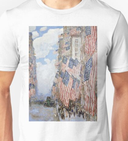 Childe Hassam - The Fourth Of July, 1916 Unisex T-Shirt