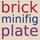 brick minifig plate by Customize My Minifig