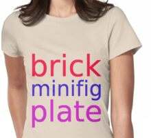 brick minifig plate Womens Fitted T-Shirt