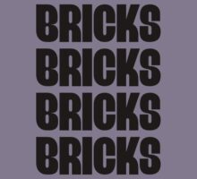 """BRICKS BRICKS BRICKS BRICKS "" Customize My Minifig Kids Tee"