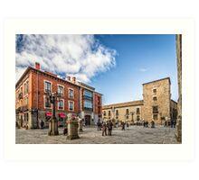 Cathedral Square in Avila Art Print