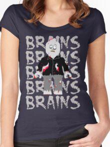 BRAINS BRAINS BRAINS BRAINS BRAINS Women's Fitted Scoop T-Shirt