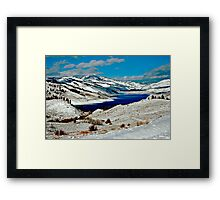 ANDERSON RESERVOIR AFTER FIRST SNOW Framed Print