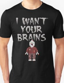 I WANT YOUR BRAINS ZOMBIE MINIFIG T-Shirt