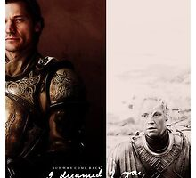 """Game of Thrones - Jaime & Brienne """"I Dreamed of you!"""" by Laren17"""