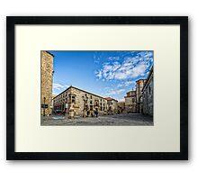 Cathedral Square in Avila Framed Print