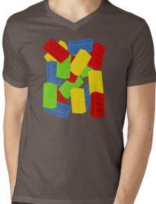 Colored Bricks Mens V-Neck T-Shirt
