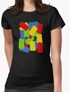 Colored Bricks Womens Fitted T-Shirt
