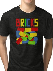 Colored Bricks Tri-blend T-Shirt