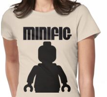 Retro Large Black Minifig, Customize My Minifig Womens Fitted T-Shirt