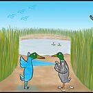 Duck Hunting Cartoon by David Stuart