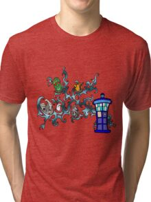 Tardis Bad Guys Tri-blend T-Shirt