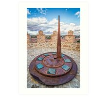 Solar Clock at The Walls of Avila Art Print