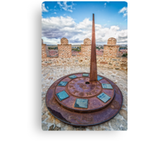 Solar Clock at The Walls of Avila Canvas Print
