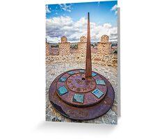 Solar Clock at The Walls of Avila Greeting Card