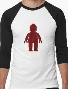 Minifig [Dark Red], Customize My Minifig Men's Baseball ¾ T-Shirt