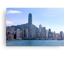 Facing HK Central District - Hong Kong. Canvas Print
