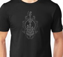 Intricate Dark Bass Guitar Design Unisex T-Shirt