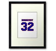 National Hockey player Jonas Nordqvist jersey 32 Framed Print