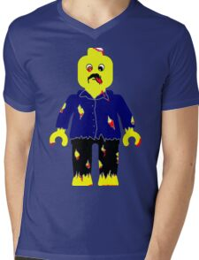 Zombie Minifig Mens V-Neck T-Shirt