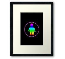 MINIFIG RAINBOW Framed Print