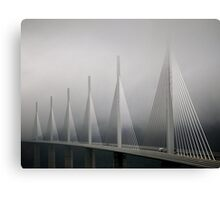 The Millau Viaduct in France Canvas Print