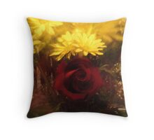 Zoomed Rose Throw Pillow