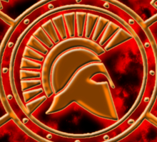 Spartan warrior - Molon lave and come back with your shield or on it! Sticker
