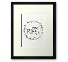 The Lord of the Rings... Framed Print