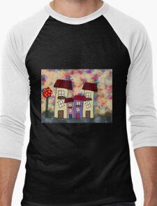 Lovely houses Men's Baseball ¾ T-Shirt