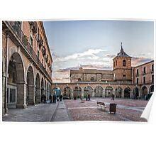 Mercado Chico Square in Avila Poster