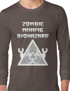 ZOMBIE MINIFIG BIOHAZARD Long Sleeve T-Shirt