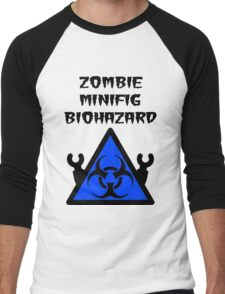 ZOMBIE MINIFIG BIOHAZARD Men's Baseball ¾ T-Shirt